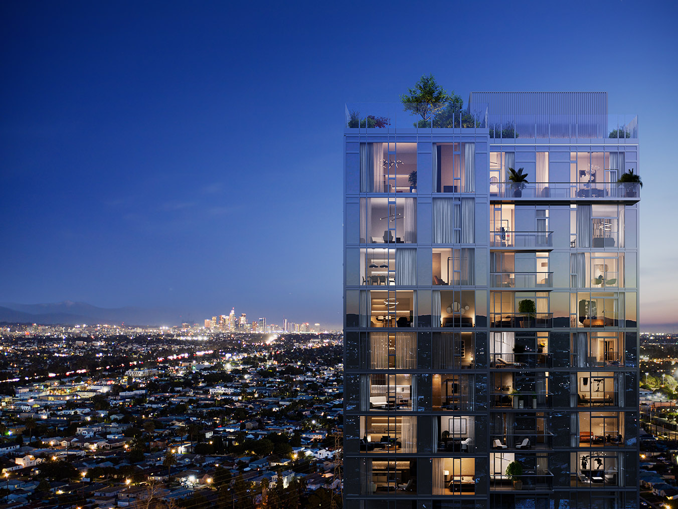 31-story ARQ luxury high rise designed for West LA living.