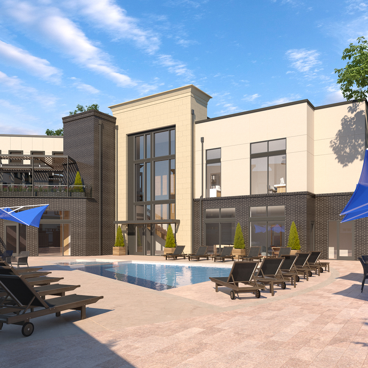 The Palmer Amenities - Exterior and Pool Deck
