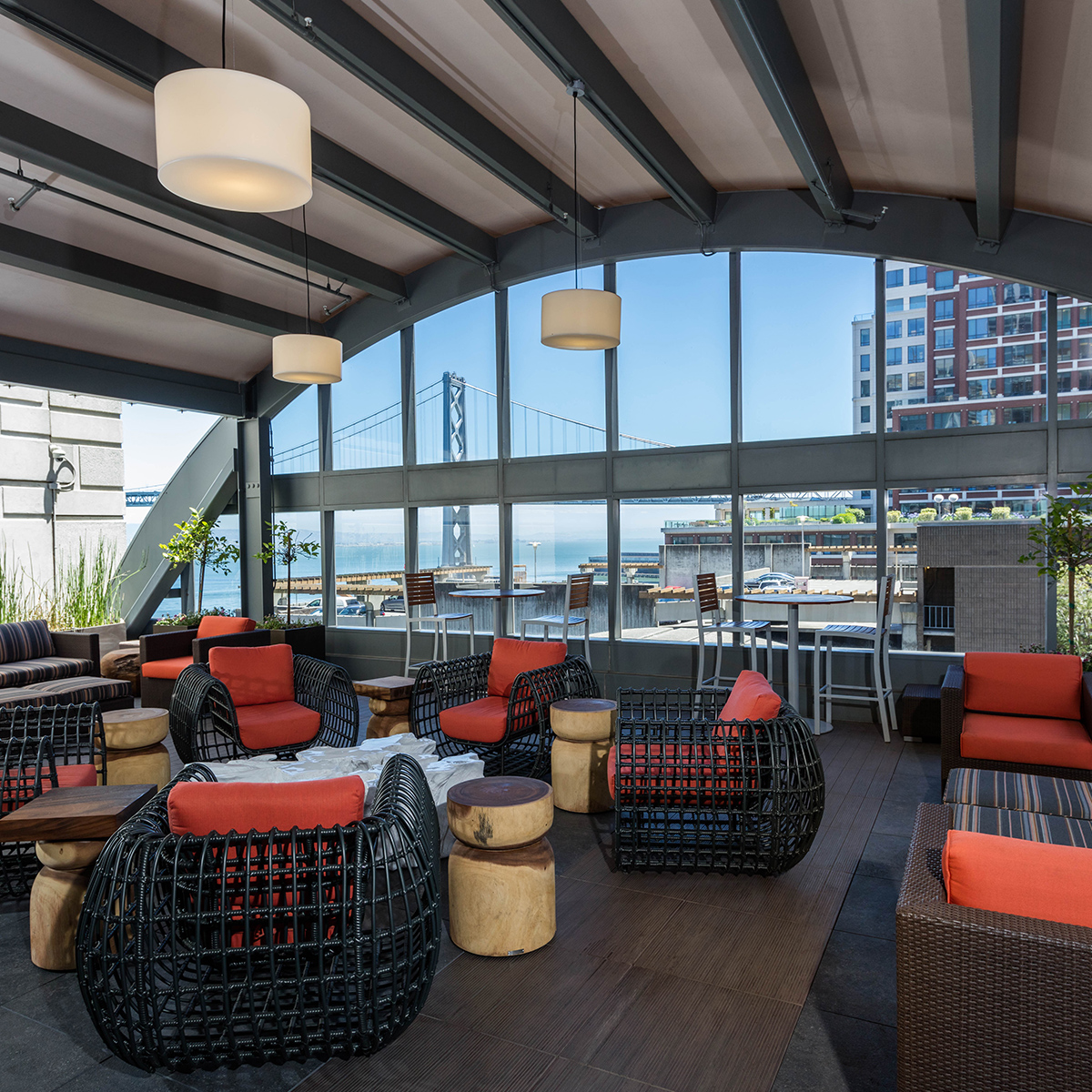 The Towers at Rincon Amenities - Rooftop Lounge