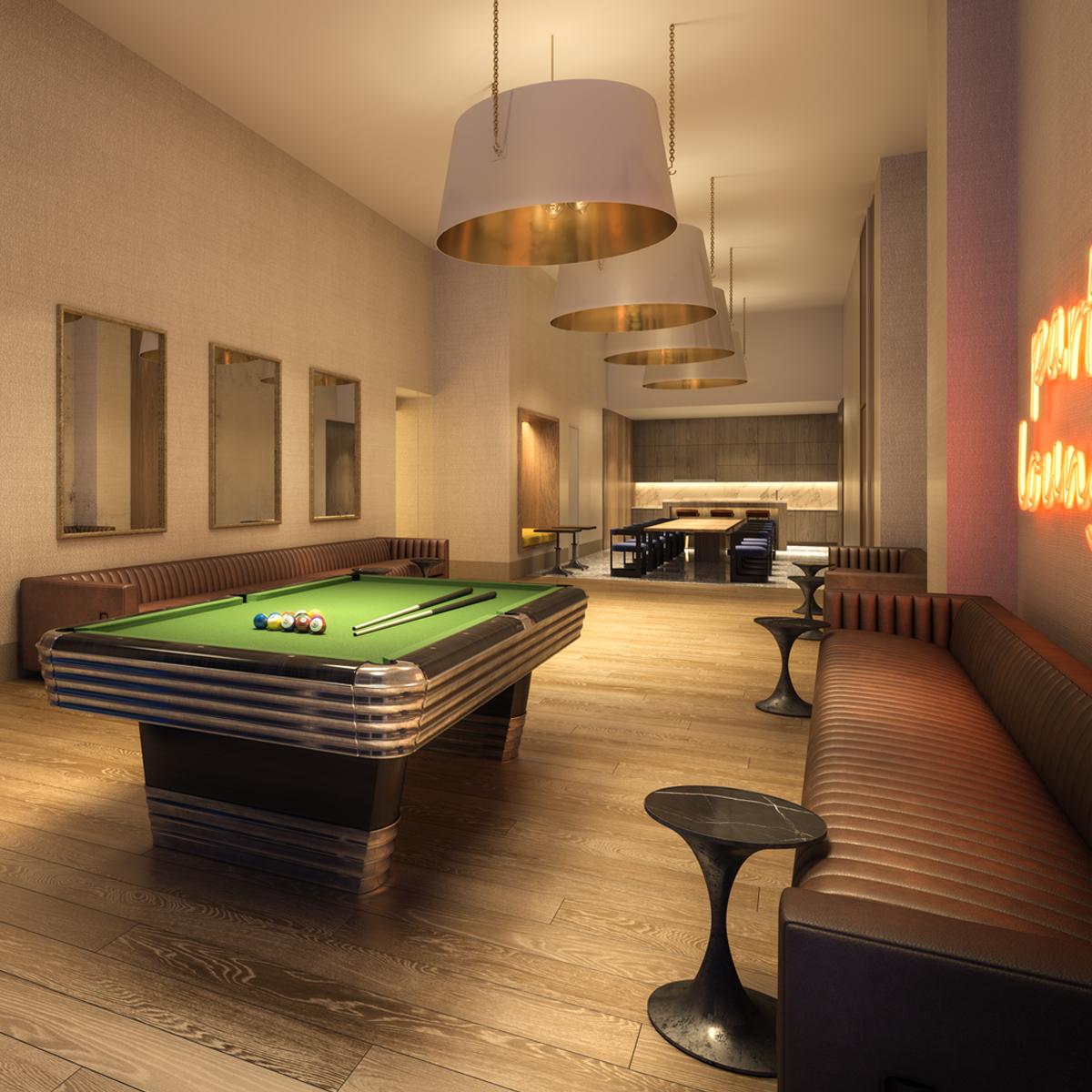 19 Dutch - game room-billiards - luxury apt amenity
