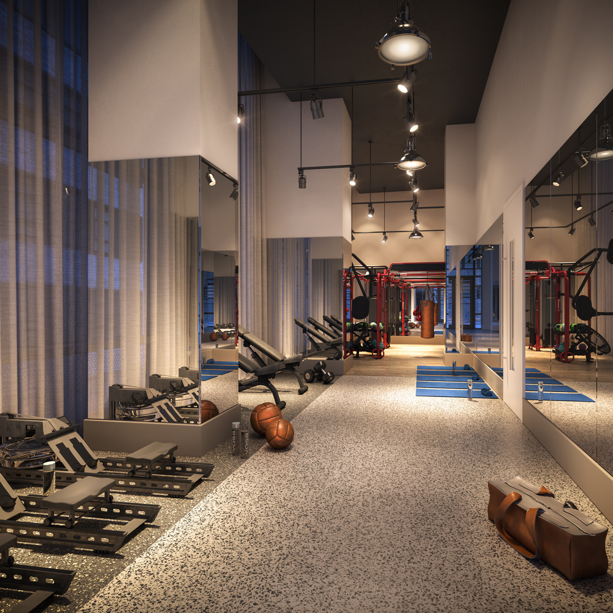 19 Dutch - fitness center - luxury apt amenity