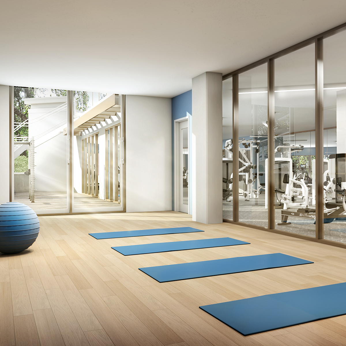The Henry - Resident Yoga Room and Gym