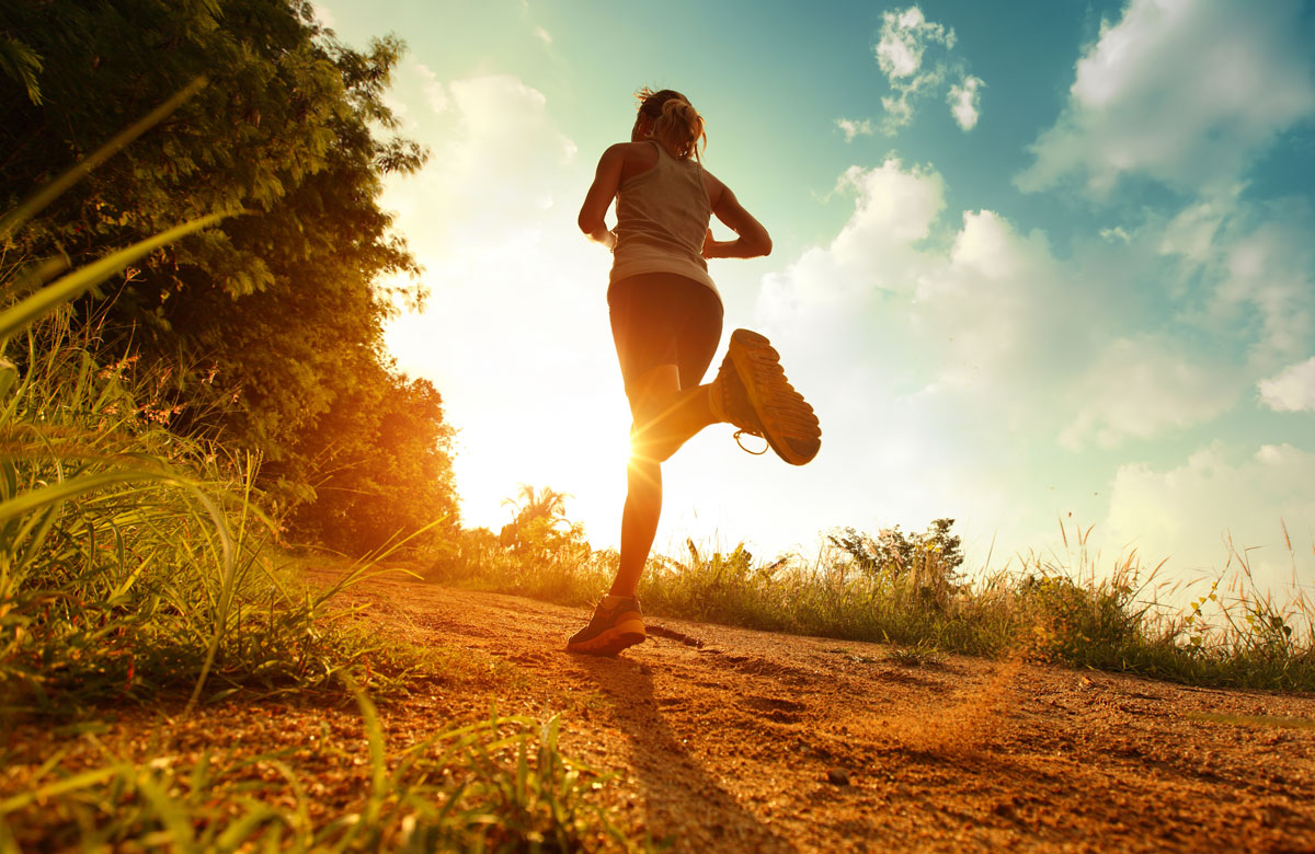 girl running the Culver City stairs at sunrise - The Madrid Westchester LA Neighborhood