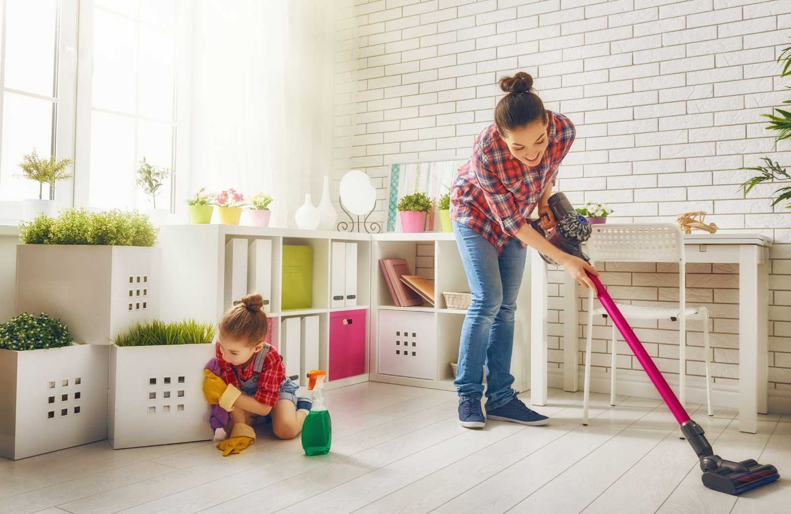 Woman Cleaning The House - The Village Residences Apts