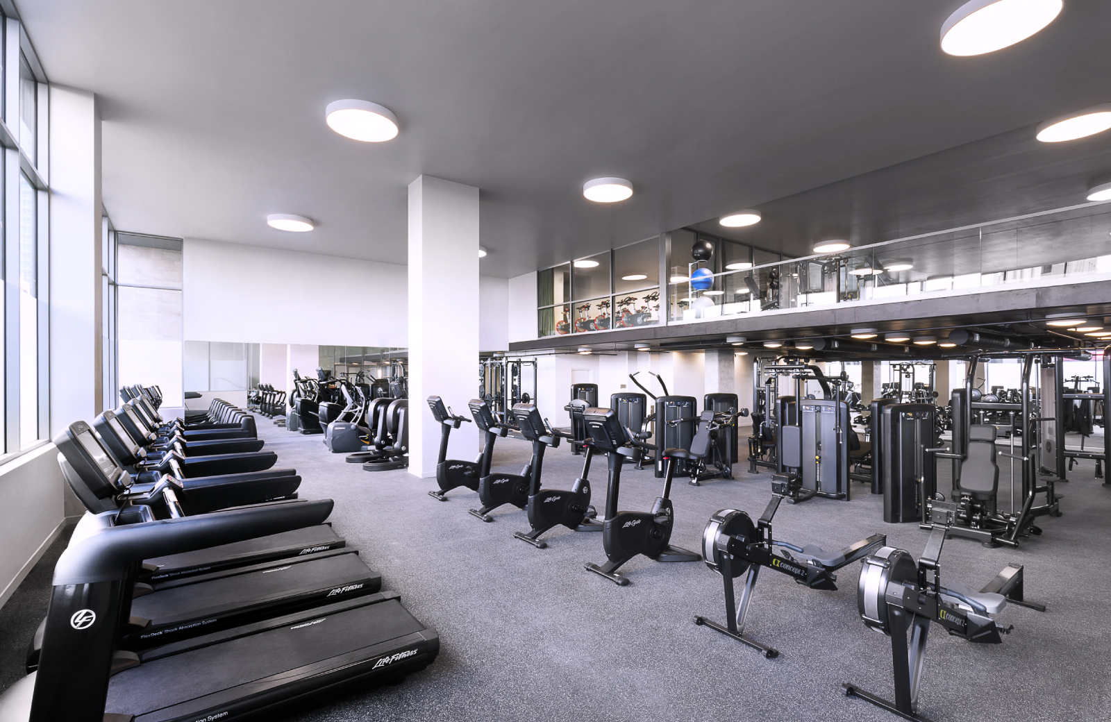 fitness studio at eighth and grand