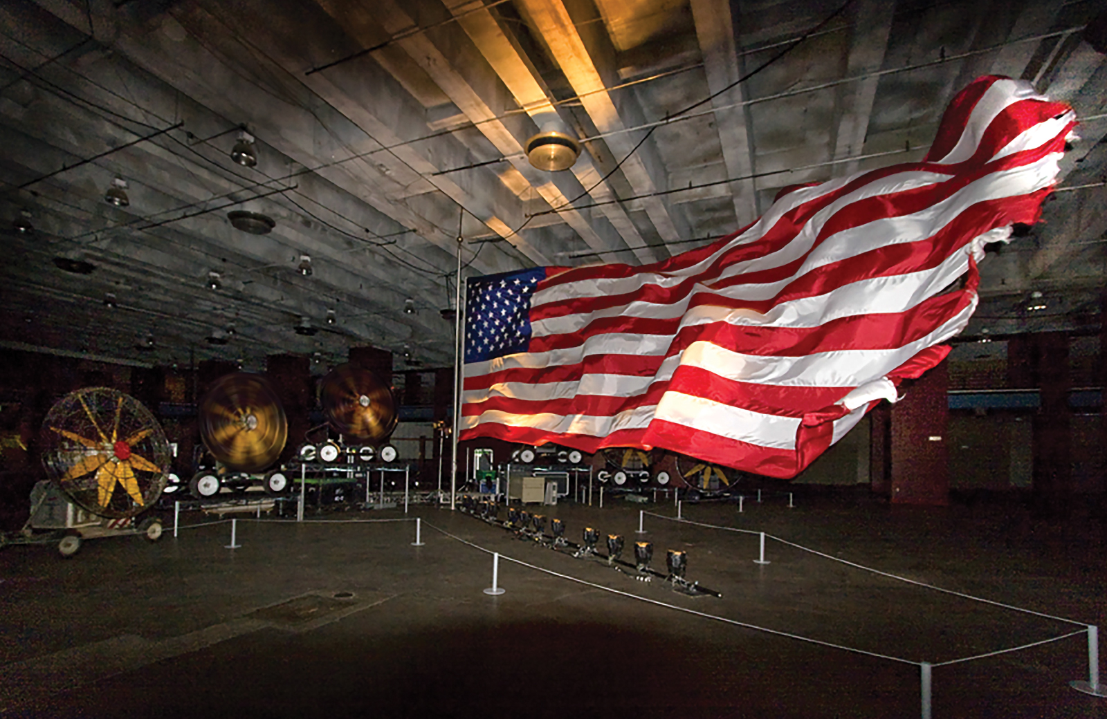 american flag at MOCA in LA