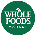 circle green and white whole foods market logo