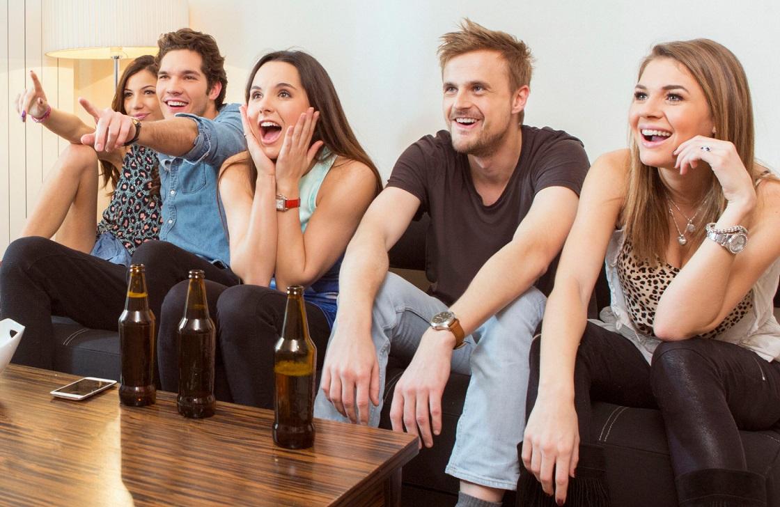group of friends hanging out west villas davis