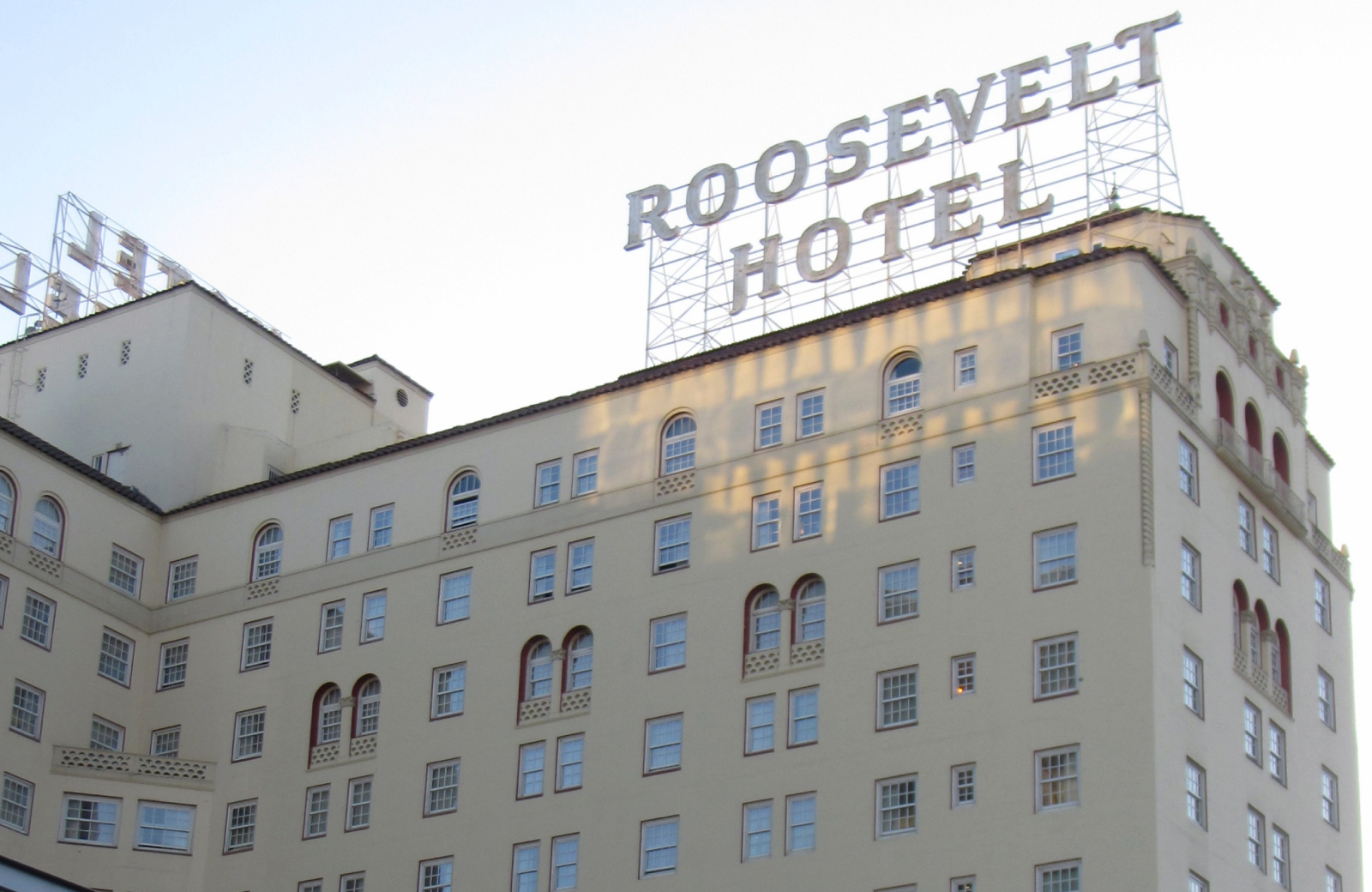facade of roosevelt hotel atelier los angeles