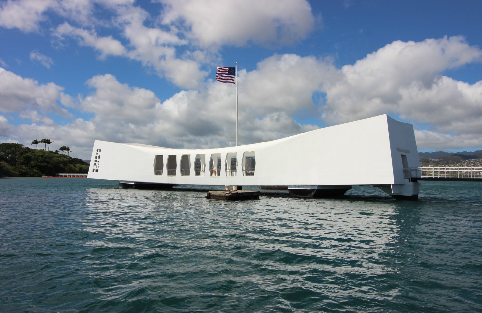 USS Arizona Memorial in oahu hawaii kapilina