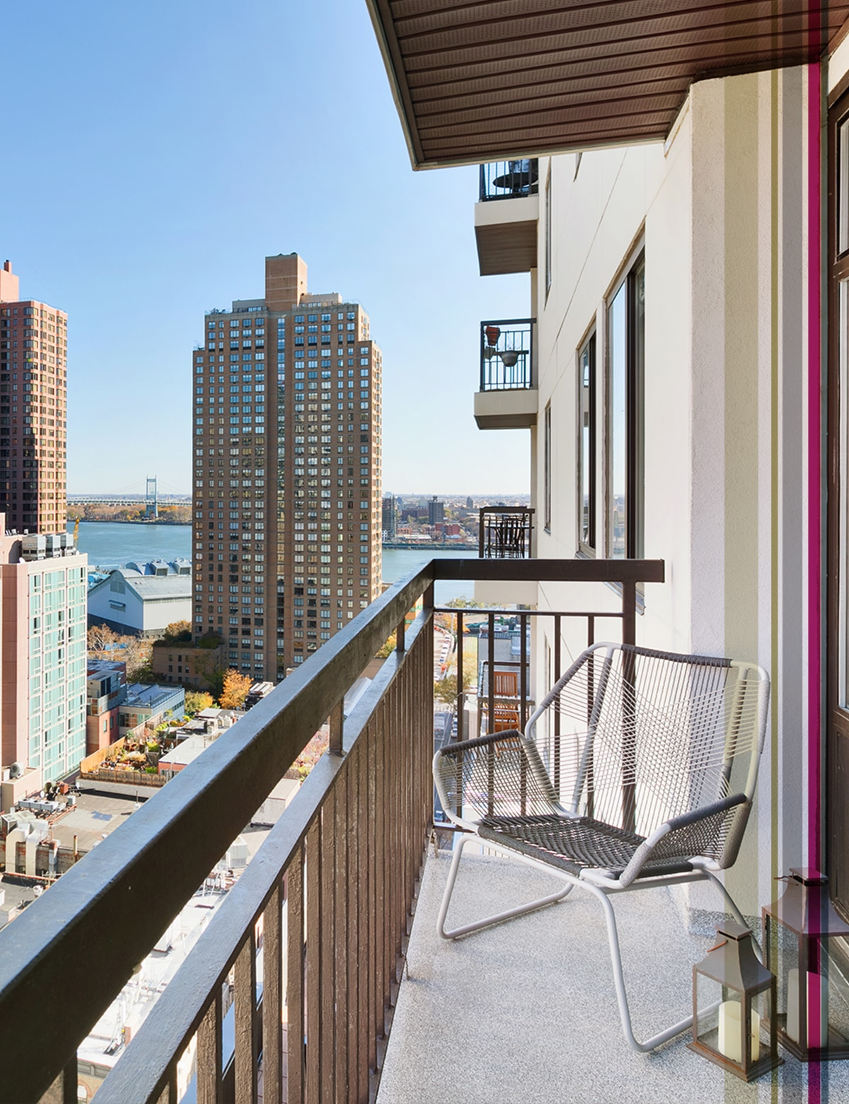 Balcony view of NYC - The Cole Apts - Manhattan