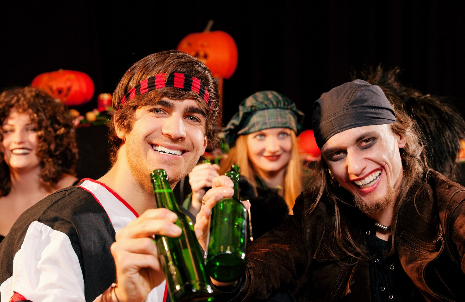 group of friends partying on halloween renoir apartments nyc