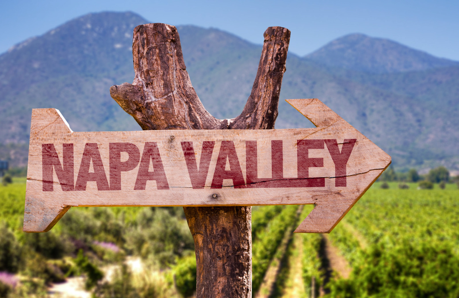 sign to napa valley