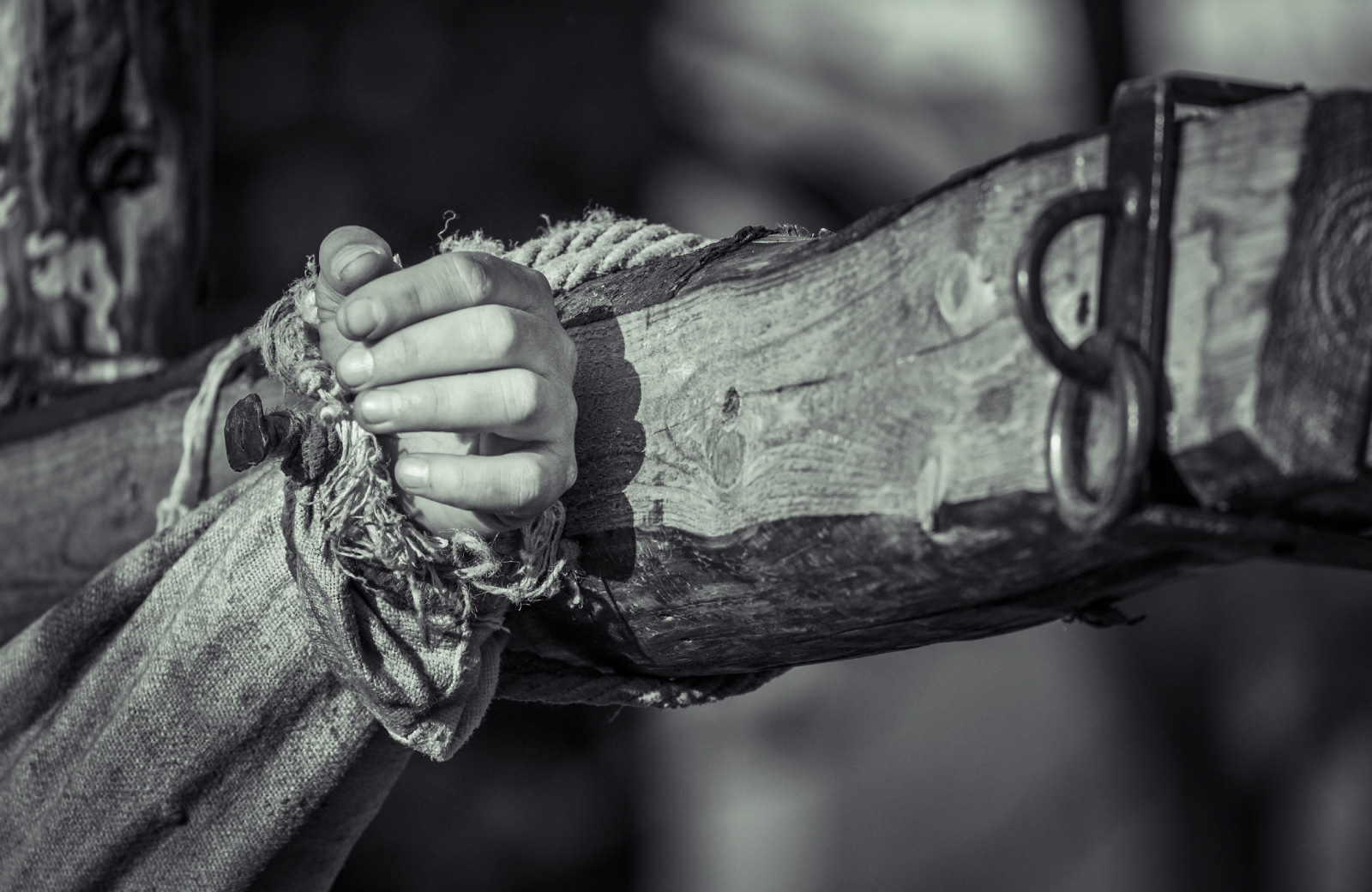 crucified hand