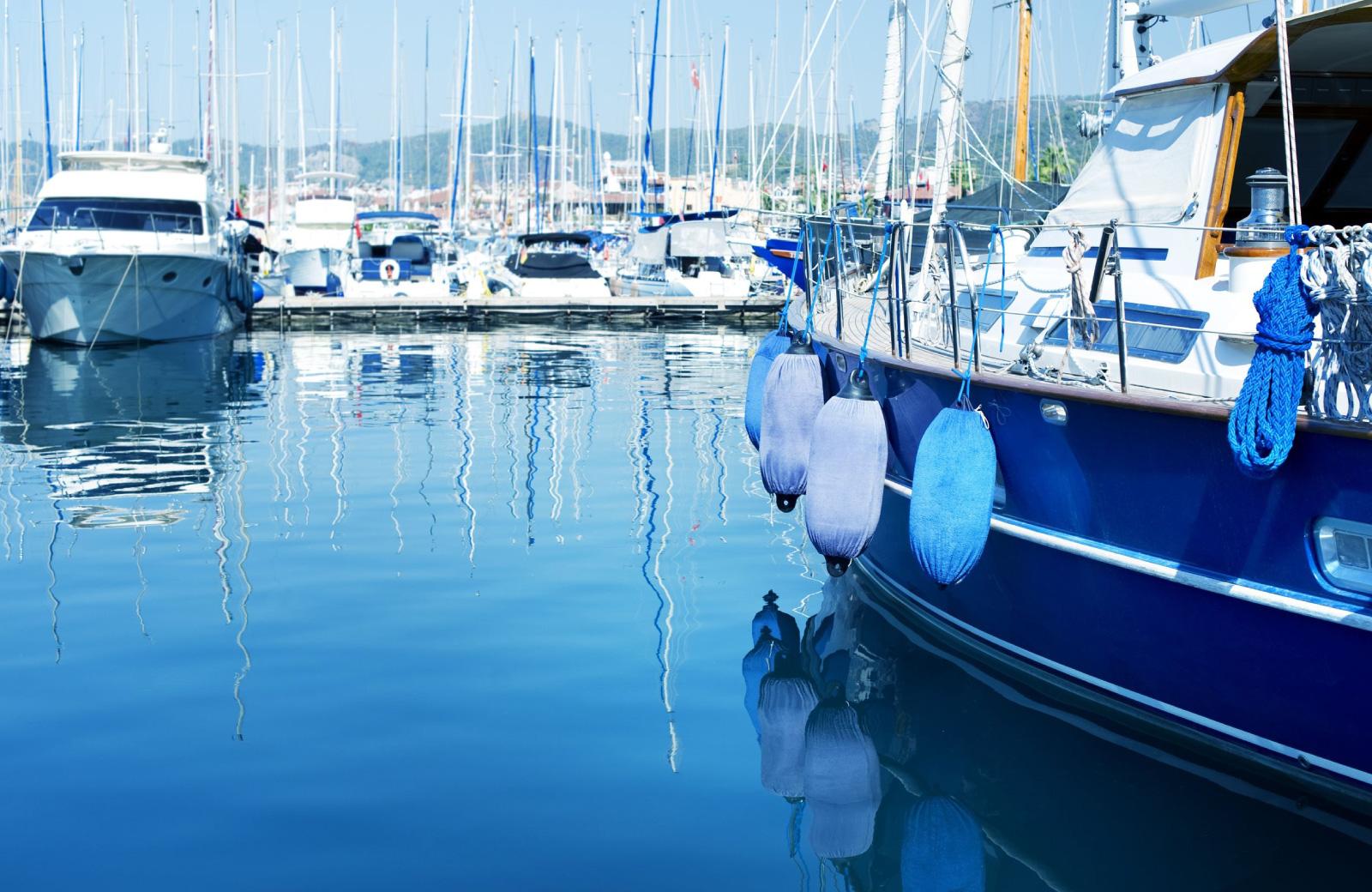 yachts on marina