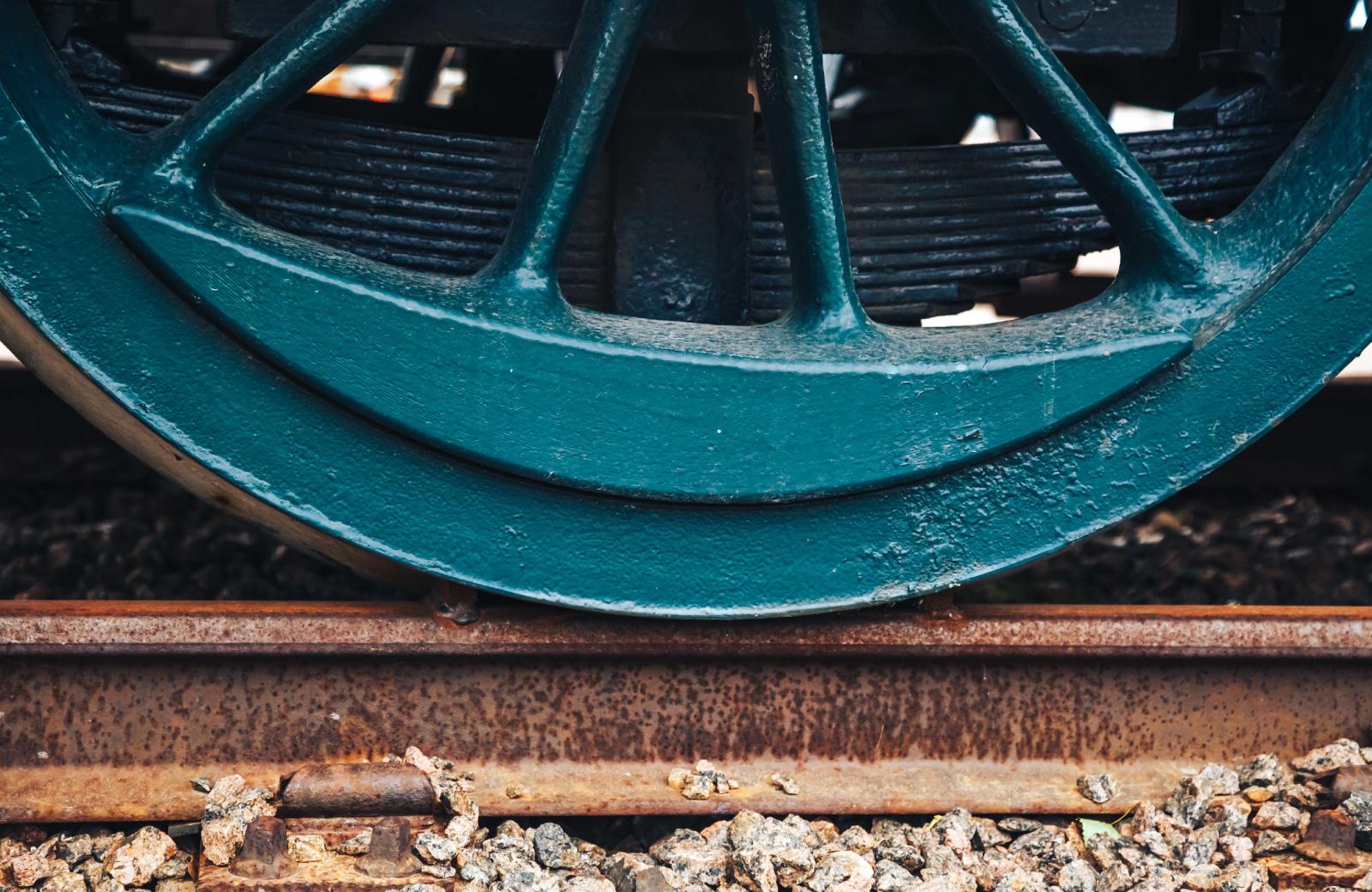 wheel on a train