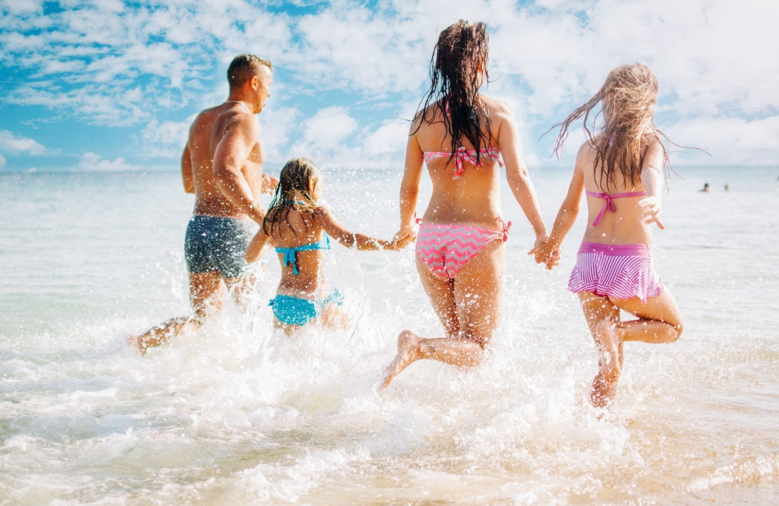 family in the beach