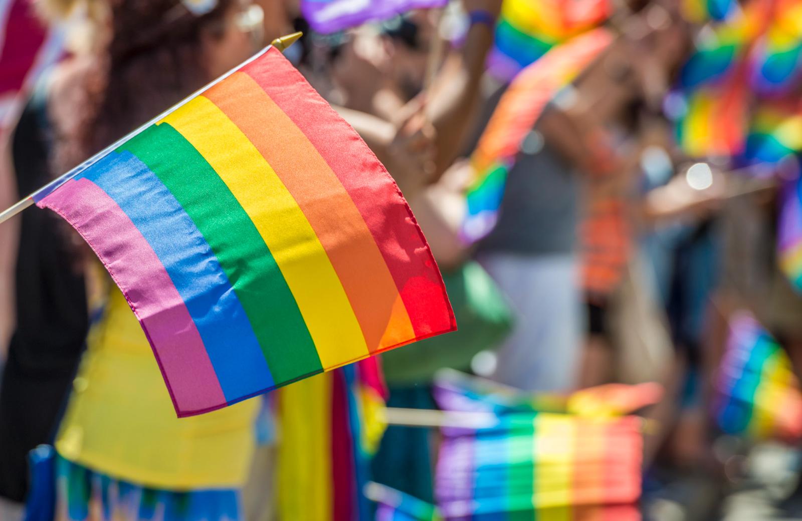 LA pride flag