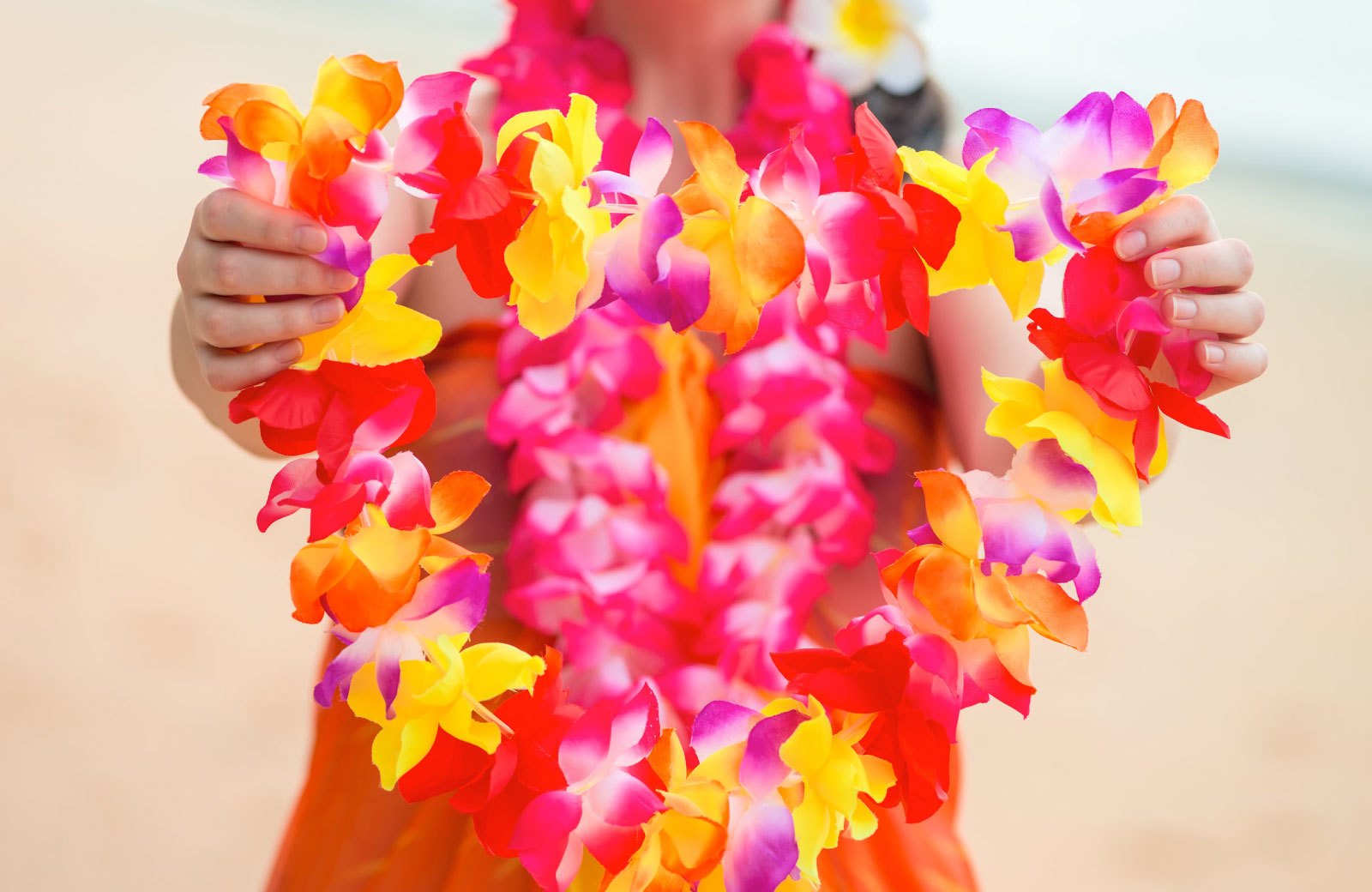 woman with lei